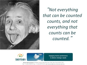 Sir Albert on what counts